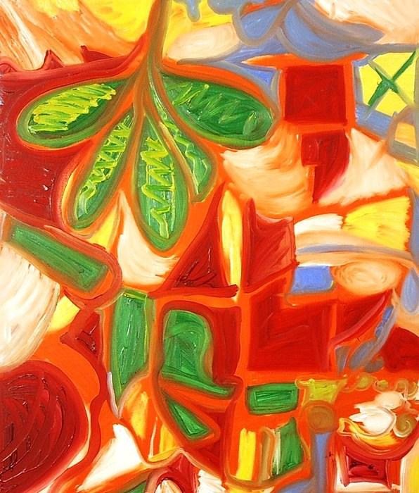 Falling Leaf Painting - Falling Leaf by Alfredo Dane Llana