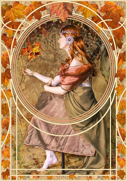 Autumn Digital Art - Falling Leaves by John Edwards