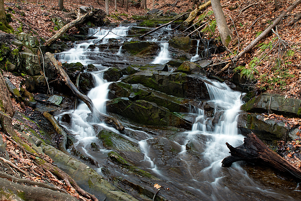 Waterfall Photograph - Falling Waters In February by Jeff Severson