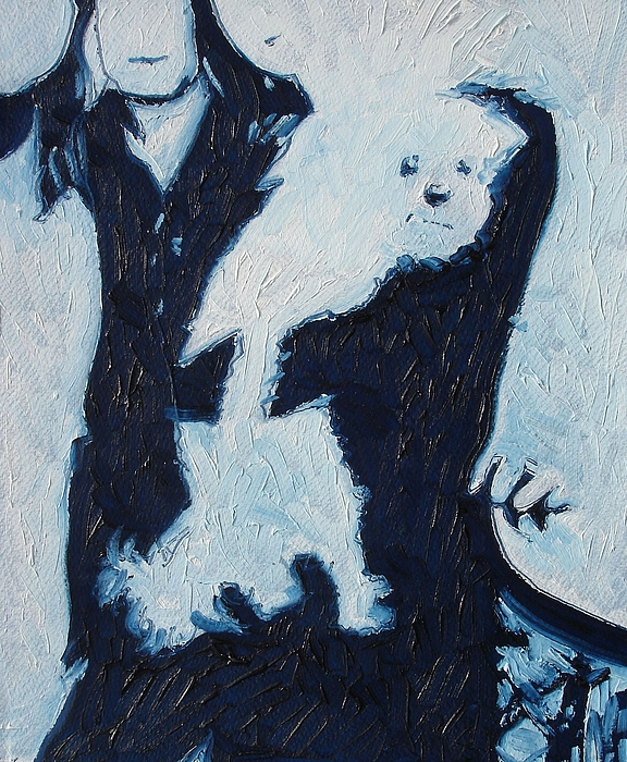 Figurative Painting - Family Dog by Sue Ching You