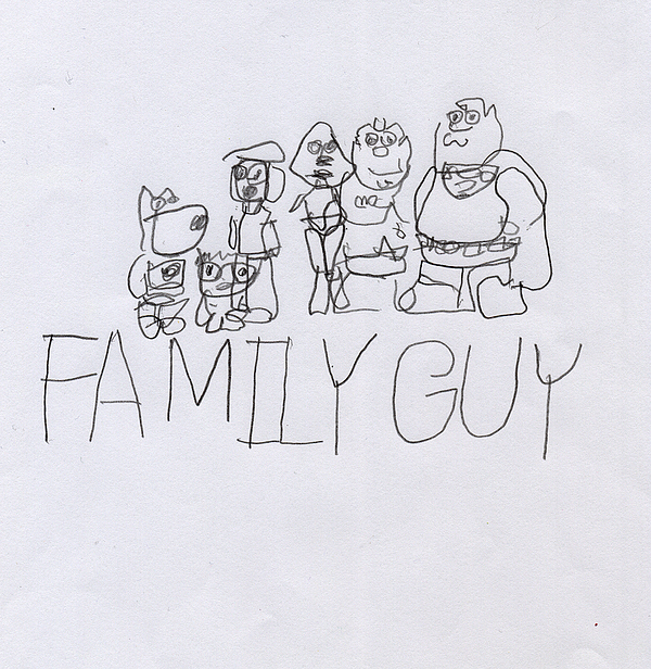Family Painting - Family Guy Pencil Sketch by Vincent Gitto