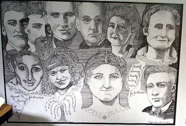 Family Drawing - Family  by M Brandl