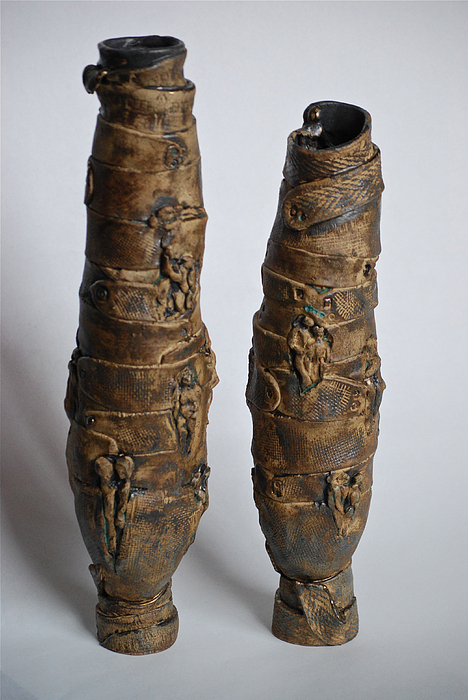 Ceramic Sculpture - Family Pots by Joan Hain