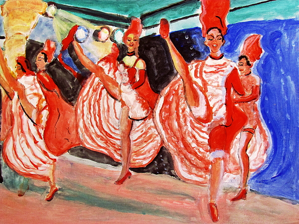 Famous French Cancan Painting - Famous French Cancan by Stanley Morganstein
