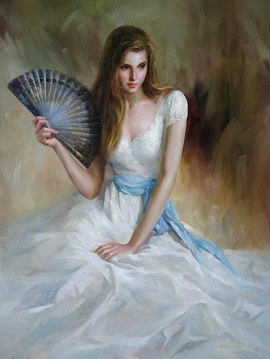 Figurative Painting Painting - Fan by Kelvin  Lei