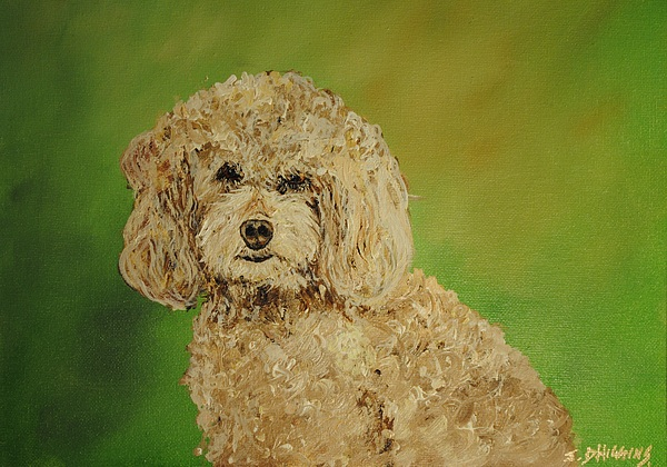 Poodle Painting - Fancy Girl by James Higgins