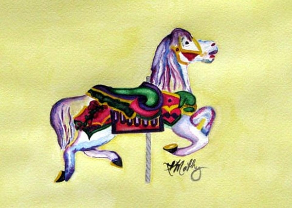 Horse Painting - Fancy  by Karla Mathey