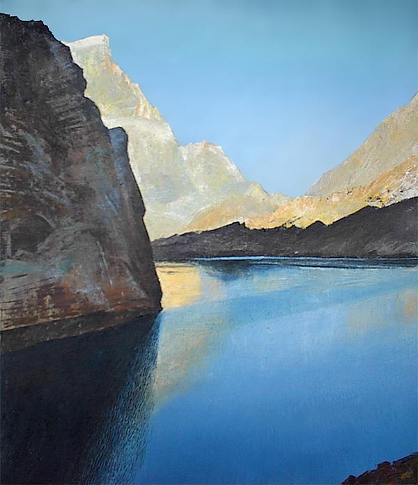 Landscape Painting - Fann Mountains. Big Allo Lake. by Valeriy Grachov