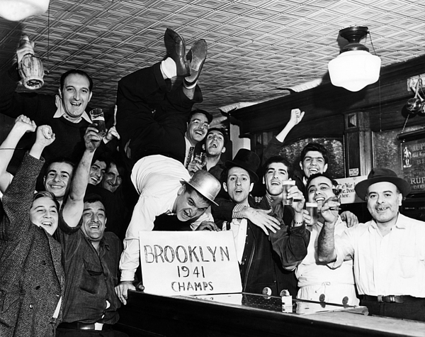 20th Century Photograph - Fans Cheer A Brooklyn Dodgers Pennant by Everett