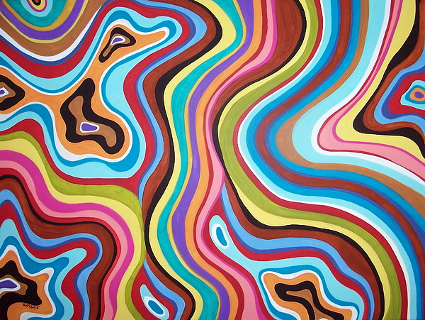 Abstract Painting - Fantasy Swirl by Karla Gerard