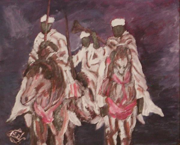 Fantazia 01 2007 Painting by Mohamed-Hosni Belkorchi