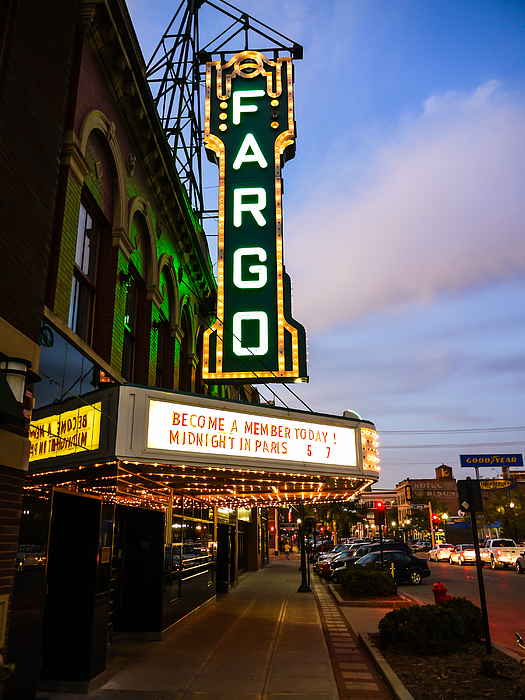 Fargo Photograph - Fargo Theater And Downtown Along Broadway Drive by Paul Velgos