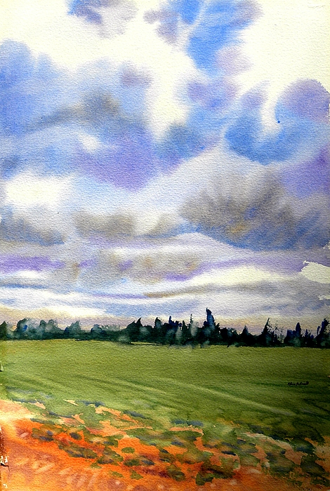 Sky Painting - Farm  Field P.e.i. by Patricia Bigelow