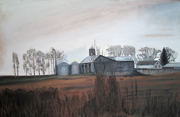 Farm Painting - Farm In The Fall by Keith Bagg