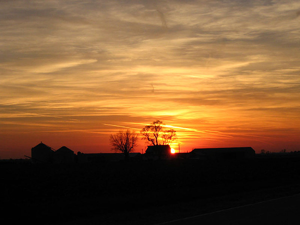 Farm Sunset Photograph by Jack G  Brauer