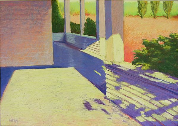 Pastel Painting - Farmhouse Porch by Mary McInnis