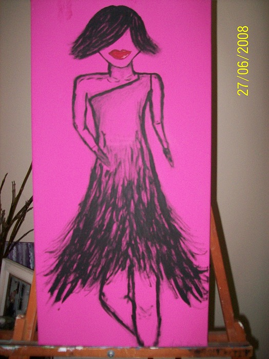 Fashion Painting - Fashion Diva Collection by Angele Langdon