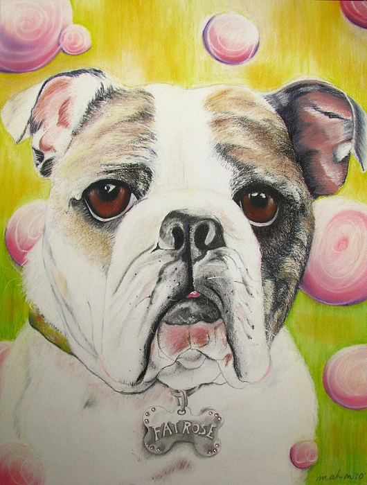 Dog Pastel - Fat Rose by Michelle Hayden-Marsan