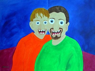 Father And Son Painting - Father And Son by Sal Marino