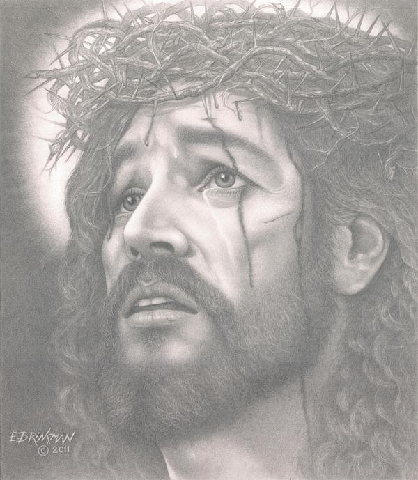 Jesus Drawing - Father Forgive Them by Eduard  Brinkman