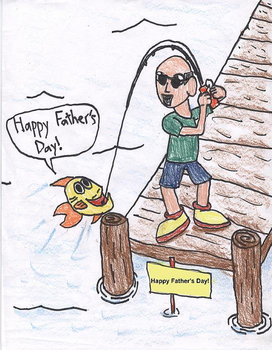 Father's Day Drawing - Fathers Day by Jayson Halberstadt