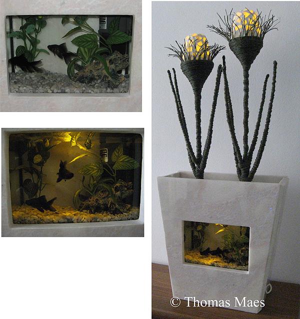 Design Mixed Media - Fauna And Flora  Aquarium Sculpture by Thomas Maes