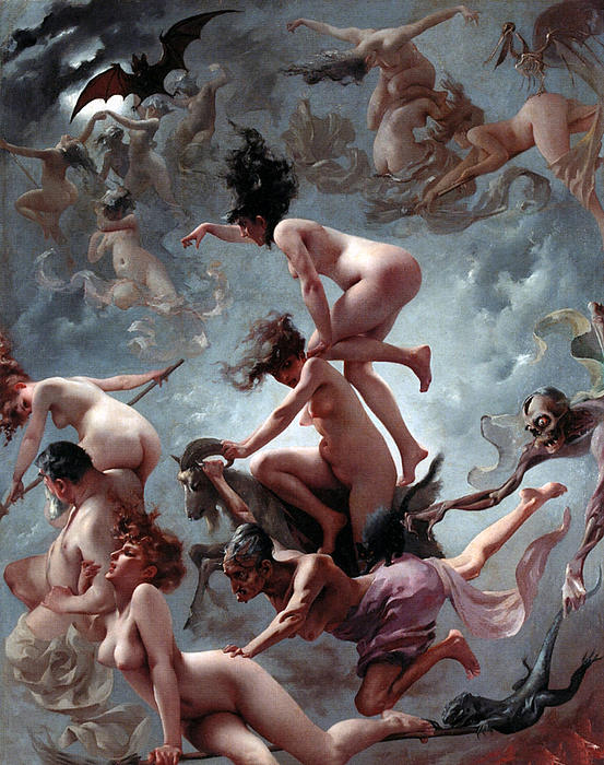 Naked Painting - Fausts Vision by Luis Riccardo Falero
