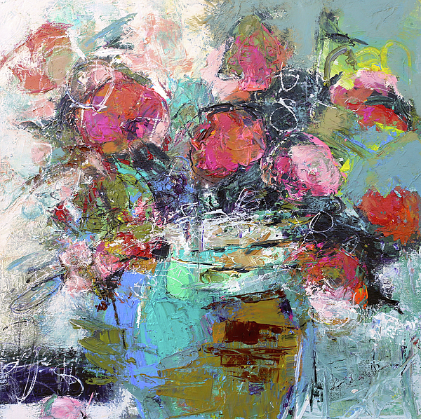 Floral Abstract Painting - FAV by Elizabeth Chapman