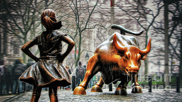 Wall Street Bull Art fearless girl and wall street bull statues photographnishanth