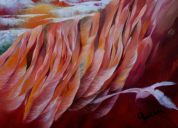 Feathers Painting - Feathers by Peggy Guichu