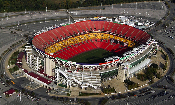 Redskins Painting - Fedex Field Redskins Stadium by Steve Monell