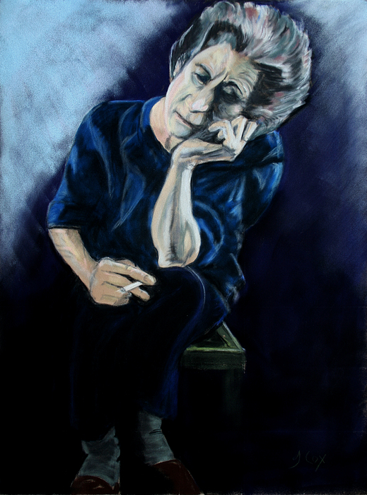 Figure Painting - Feeling Blue. by John Cox