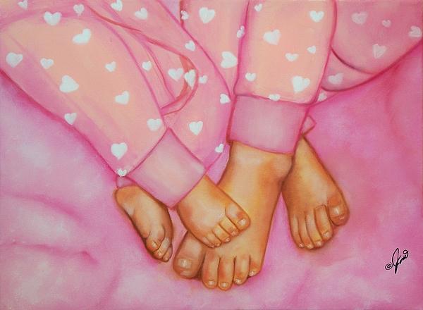 Portrait Painting - Feet Fete by Joni McPherson