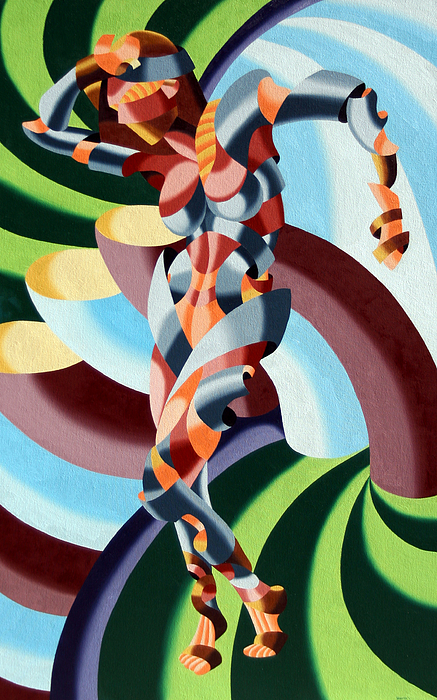 Abstract Painting - Felicia A Go-go by Mark Webster