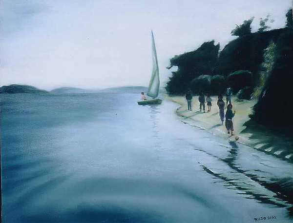 Felucca Ride Painting by Lyne Bujold