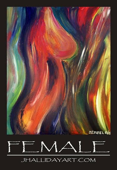 Figure Painting - Female by Jennifer Halliday