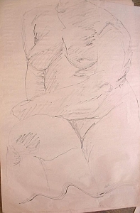 Female Nude 4  Painting by Ladonna Idell