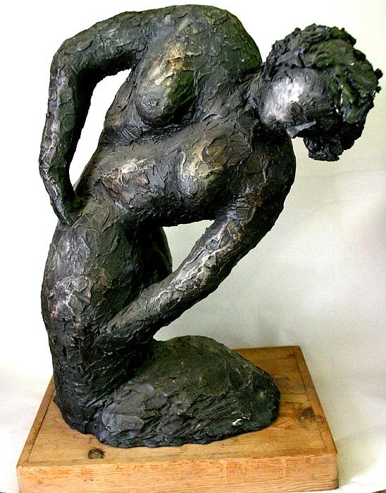 Portrait Sculpture - Female Torso by Gideon Cohn