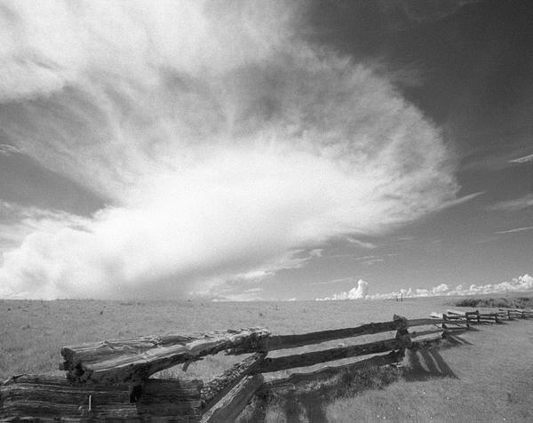 Landscape Photograph - Fence Clouds by Paul Aiello