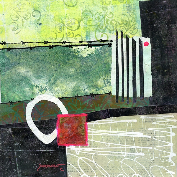 Abstract Painting - Fences by Sue Furrow