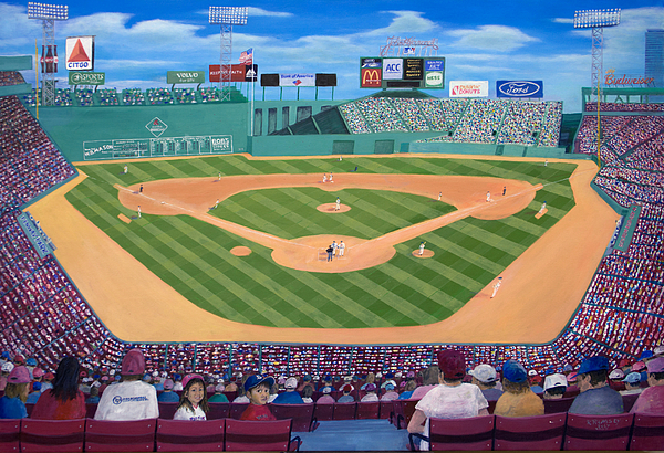 Fenway Painting - Fenway Park by Richard Ramsey