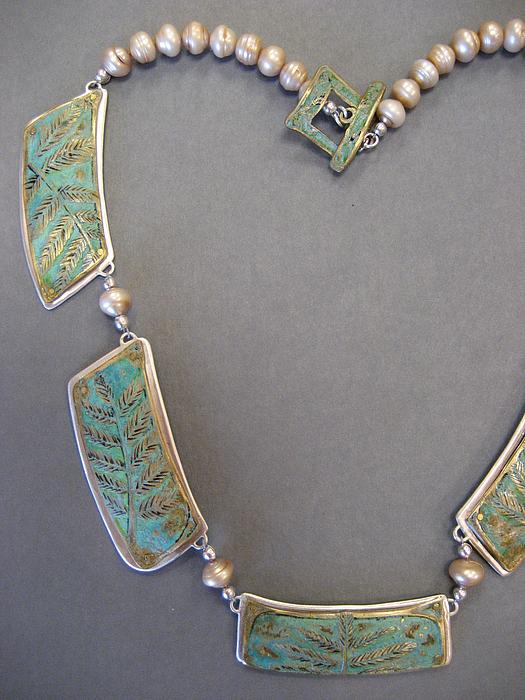 Nature Jewelry - Fern Sections by Brenda Berdnik