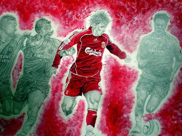 Torres Painting - Fernando Torres by Sean Leonard