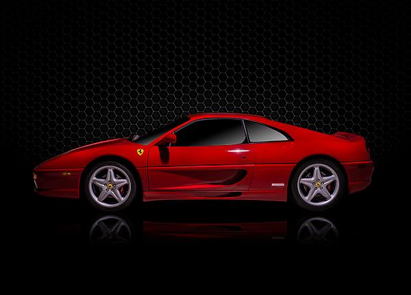 Red Digital Art - Ferrari Red - 355  F1 Berlinetto by Douglas Pittman
