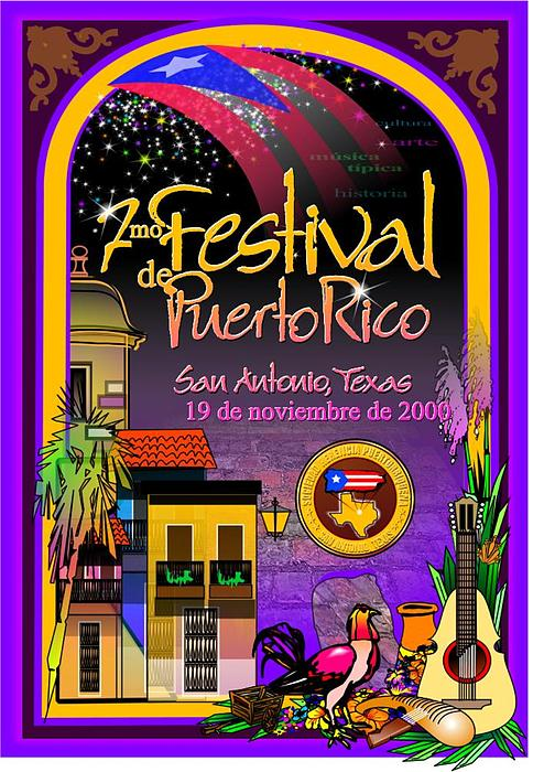 Festival De Puerto Rico Digital Art by William R Clegg