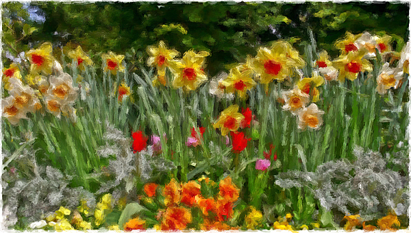 Paintings Painting - Field Of Beauty by Henry J Yasses