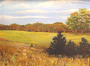 Landscape Painting - Field Of Dreams by Kasondra Johnston
