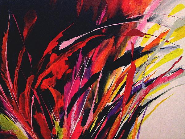 Abstract Painting - Fiesta by Yvette Sikorsky