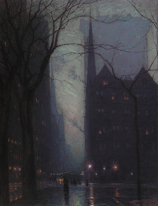 Fifth Painting - Fifth Avenue At Twilight by Lowell Birge Harrison