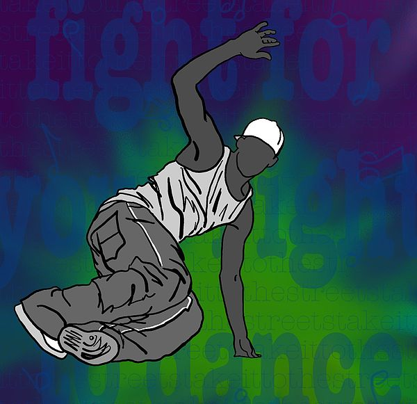 Dance Digital Art - Fight For Your Right To Dance by M Blaze Wolenski